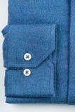 camicia blu della camicia Fotografia Stock Libera da Diritti