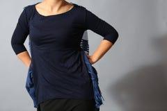 Camicia blu strappata Fotografie Stock Libere da Diritti