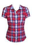 Camicia checkered rossa fotografia stock libera da diritti
