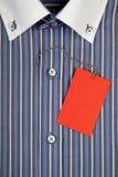 Camicia con il collare ed il contrassegno Immagini Stock Libere da Diritti