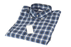 Camicia controllata blu del reticolo Fotografia Stock Libera da Diritti