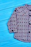 Camicia dei jeans di progettazione moderna per il neonato Fotografia Stock Libera da Diritti