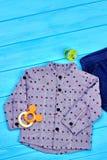 Camicia di autunno di alta qualità del neonato Fotografie Stock Libere da Diritti