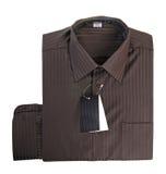 Camicia di cotone del Brown Fotografia Stock