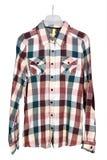 Camicia di plaid del cotone dell'uomo Fotografie Stock Libere da Diritti