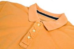 Camicia di polo arancione. Fotografia Stock
