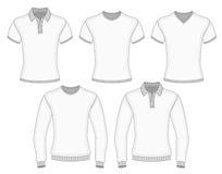 Camicia di polo degli uomini e maglietta Fotografia Stock
