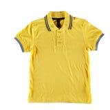 Camicia di polo gialla Fotografia Stock