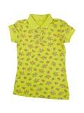 Camicia di polo giallo verde Fotografie Stock Libere da Diritti
