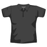 Camicia di polo nera Fotografie Stock Libere da Diritti