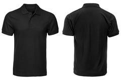 Camicia di polo nera, vestiti Fotografie Stock