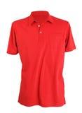 Camicia di polo rossa Fotografia Stock Libera da Diritti