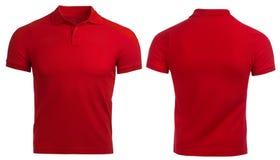Camicia di polo rossa, vestiti fotografie stock libere da diritti