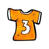 camicia di sport del fumetto con il numero tre Fotografie Stock Libere da Diritti