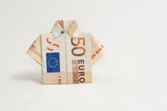 camicia di 50 un'euro origami Immagini Stock Libere da Diritti