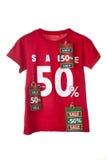 Camicia di vendita con la modifica Immagine Stock Libera da Diritti