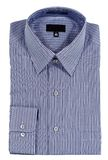 Camicia di vestito Pinstriped blu fotografia stock