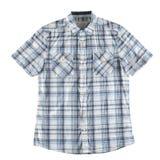 Camicia grigia e blu isolata Fotografia Stock Libera da Diritti