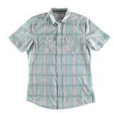 Camicia grigia e verde isolata Fotografia Stock Libera da Diritti