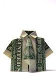 Camicia/legame di Origami Immagini Stock