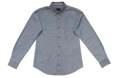 Camicia maschio blu Fotografia Stock Libera da Diritti