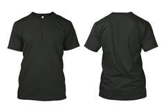 Camicia nera in bianco isolata Fotografia Stock Libera da Diritti