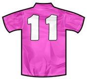 Camicia rosa undici Fotografia Stock