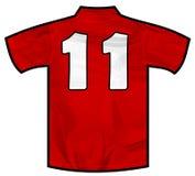 Camicia rossa undici Immagini Stock
