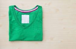 Camicia verde Immagini Stock Libere da Diritti