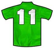 Camicia verde undici Fotografie Stock Libere da Diritti