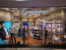 Camicissima - sklep odzieżowy dla mężczyzn przy placem Rumunia zdjęcie royalty free