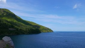 Camiguin cliff view stock footage