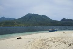 Camiguin island beach volcanos philippines Stock Image