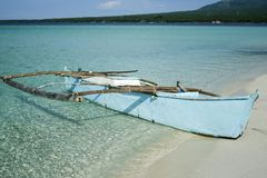 Camiguin island outrigger canoe philippines Royalty Free Stock Image