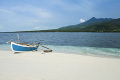 Camiguin island outrigger fishing boat philippines Royalty Free Stock Photo