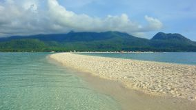 Camiguin Island. White Beach on Camiguin Island Afternoon with Hibok Hibok Volcano, Philippines Stock Photography