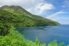 Camiguin volcano. Volcano on the island of Camiguin, Philippines Royalty Free Stock Image