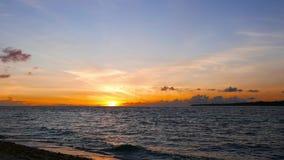 Camiguin white island sunrise stock video footage