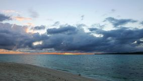 Camiguin White Island Sunrise Time Lapse  stock video footage