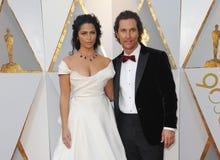 Camila Alves и Мэттью McConaughey Стоковая Фотография
