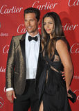 Camila Alves. Matthew McConaughey & wife Camila Alves-McConaughey at the 2014 Palm Springs International Film Festival Awards gala at the Palm Springs Convention Royalty Free Stock Photo