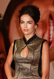 Camilla Belle. Television and film actress Camilla Belle dazzzles on the red carpet as she arrives for the world premiere of the comedy, The Five-Year Engagement Royalty Free Stock Photos