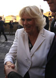 Camilla, Duchess of Cornwall. Visiting Florence, Italy Stock Images