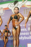 Camilla Ohman. Of Sweden competes in the bodyfitness competition at the IFBB World Bodyfitness Championships at Cernobbio, Italy, on October on October 17, 2009 Royalty Free Stock Photography