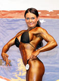 Camilla Ohman's fit physique Stock Image