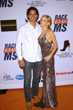 Camille Grammer and boyfriend Dimitri Charalambopoulos at the 19th Annual Race To Erase MS, Century Plaza, Century City, CA 05-19- Royalty Free Stock Photography