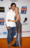 Camille Grammer and Dimitri Charalambopoulos Stock Photos