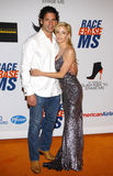 Camille Grammer and Dimitri Charalambopoulos Stock Images