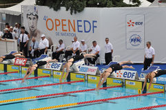 Camille Muffat, Open Edf 2010 Stock Images