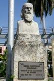 Camillo Cienfuegos monument on Marte square at Santiago de Cuba Royalty Free Stock Photo